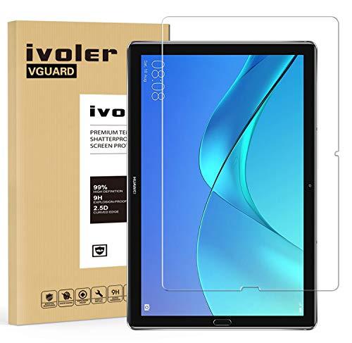 ivoler Panzerglas Schutzfolie für Huawei MediaPad M5 10.8 / Huawei MediaPad M5 Pro 10.8, 9H Festigkeit, Anti- Kratzer, Bläschenfrei, 2.5D R&e Kante