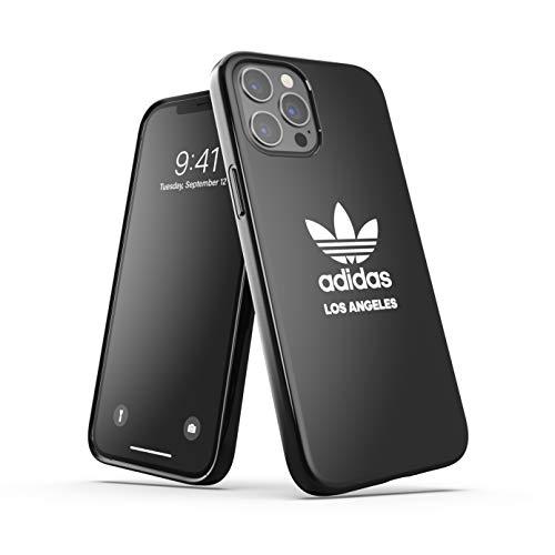 adidas Funda diseñada para iPhone 12 Pro MAX de 6,7 Pulgadas, Fundas a Prueba de caídas, Bordes elevados, Carcasa Original de Los Angeles, Color Negro y Blanco ✅