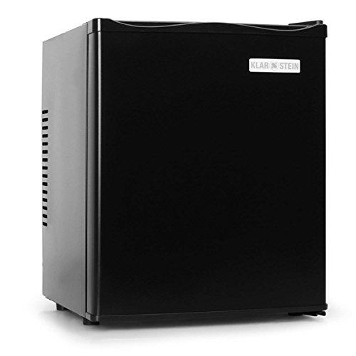 Klarstein MKS-10 - Minibar, Mini nevera, Nevera para bebidas, Clase A, 19 Litros, Bajo consumo, Muy silenciosa, 0 dB, aprox. 38 x 47 x 38 cm (An x Al x Pr), Exterior negro mate, Negro
