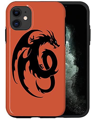 Casfy QWE077_2 - Carcasa para iPhone 11, diseño de dragón chino antiguo y elegante, diseño de moda, accesorios para teléfono