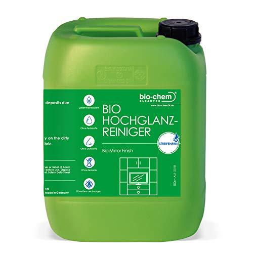 bio-chem Hochglanzreiniger/Final Touch Glasreiniger biologische streifenfreie Reinigung tensidfrei ideal für lackierte Oberflächen und Möbel 10 l + Zubehör