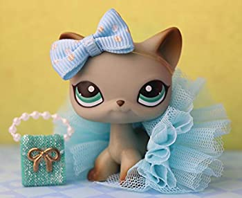 LovePets lps Shorthair Cat 391 lps Shorthair Cat Gray with Blue Eyes lps Rare Figures Collectable Pet withlps Accessories Kids Gift