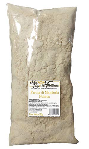 Farina di Mandorle pelate realizzata da mandorle SICILIA - Italiane 100% Mandorle Macinate 1 KG