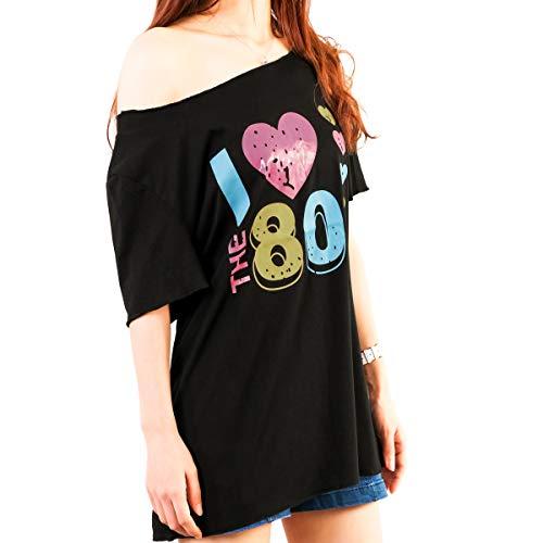 Xidan CFL I Love The 80s Ladies Drop Tail Top