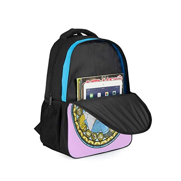 41RwKV1sx3L. SS600  - Mochila escolar unisex para niños The Simpsons con logotipo de los Simpsons, mochila escolar duradera con compartimento…