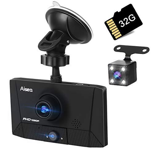 【3カメラ搭載】ドライブレコーダー 最新版 前後カメラ 車載カメラ 車内外同時録画 リアカメラ付き 4.0イン...