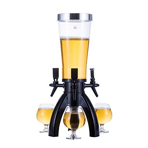 shcc 3l Beer Tower, Dispensador De Cerveza, Dispensador De Bebidas, Mesa De Cerveza Tower, con Grifo, con Soporte, para Uso De Bar En Casa