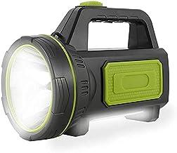 Potente Linterna Recargable LED con 135000 Lúmenes Linterna LED Alta Potencia 6000 mah 1000M y IP65 Foco Super Brillante R...