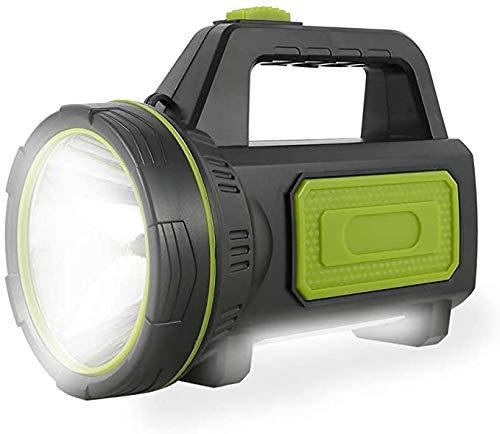 Potente Linterna Recargable LED con 135000 Lúmenes Linterna LED Alta Potencia 6000 mah 100M y IP65 Foco Super Brillante Reflector Portátil