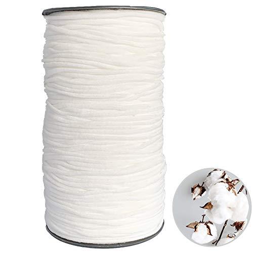 ゴム 丸ゴム 素材 手作り ハンドメイド 裁縫 ゴム紐 幅3mm 125m 白い ホワイト