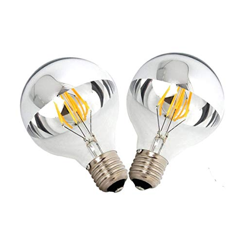 GHKLGTY Retro Edison Lamp LED Filament Bulb,Vintage Candle Light Bulb,4W Warm White Dimming G45 E26/E27 Screw Mouth Crystal Chandeliers, Etc Home Necessities,2Pcs,E27 220V