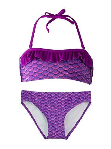 Fin Fun, Bandeau Bikini Set, Asian Magenta Top, Asian Magenta Bottom, Girl's X-Small