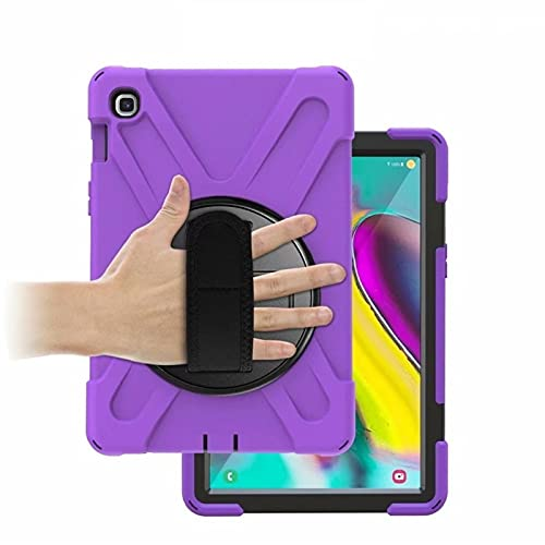 RZL PAD & TAB cases For Samsung Galaxy Tab S5E 10.5 T720 T725 2019, Heavy Duty Case 360 Rotating Hand Strap Kids Shockproof Cover for Samsung T720 (Color : Purple)