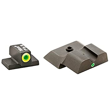 AmeriGlo Tritium I-Dot Green with Lumigreen Outline Sight Set for Smith and Wesson Shield