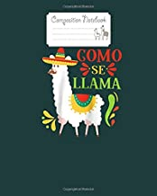 Composition Notebook: como se llama animal funny mexican cinco de mayo 2020 raglan baseball tee - for men woman Journal/Notebook Blank Lined Ruled 100 pages 8x10 inches