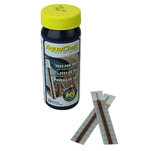 Aquachek ® Lot de 3 x 10 bandelettes d'analyse pour piscine ou spa - Sel - Blanc - Norme CE