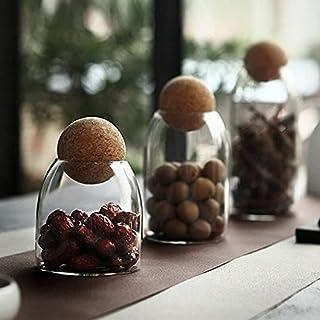 Mylee London Lot de 3 bocaux de rangement en verre en forme de boule de liège en 3 tailles