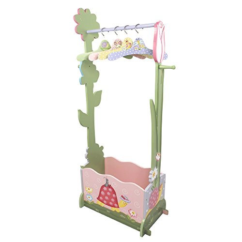 Perchero infantil de madera rosa Magic Garden de Fantasy Fields W-7482A