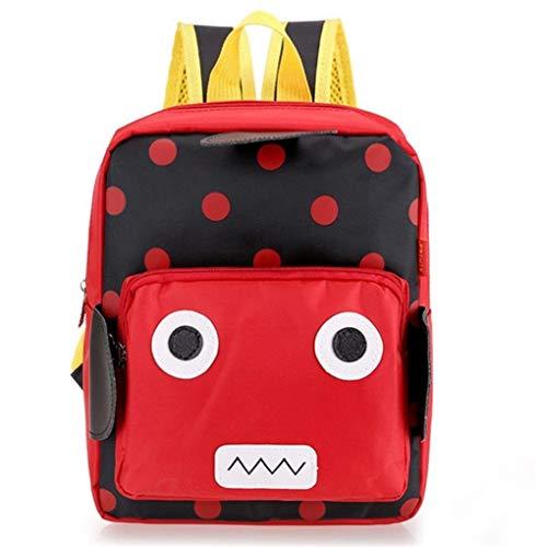 Ys-s Personalización de la Tienda Robot Precious Nizz Mochila Niños Bebé Kindergarten Escuela Bolso Book Impermeable Niños Mochilas Boys Girls Regalos (Color : Black, Size : A)