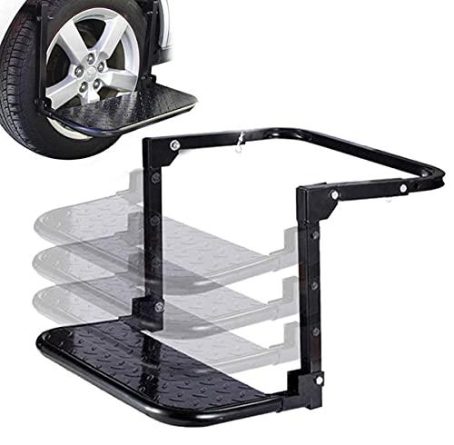 YNITJH Pedal de Coche,Pedales de neumáticos Plegables para automóvil Suministros de Equipo Todoterreno para Exteriores,Carga máxima de 150 kg, Adecuado para la mayoría de los vehículo