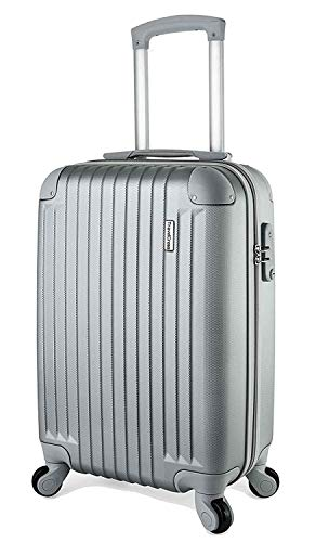 TravelCross Philadelphia 20'' Carry On Lightweight Hardshell Spinner Luggage - Silver