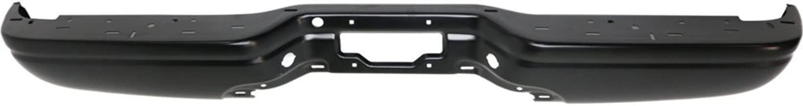 Rear Step Bumper Compatible with Ford F-Series 1997-2007 Powdercoated Black Steel Styleside Standard/Extended Cab