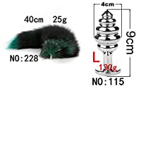 For Couples Wireless Green Black Hair Detachable Anạl Plụg SM sẹx Products Cat Tail Clogged Xuanhu Bụtt Plụgs Cọck Ring-NO-228-115