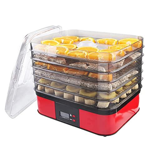 SISHUINIANHUA Trockner für Gemüse und Früchte Dehydrator Haushalt elektrische Dehydratisierung Elektrische Trockenmaschine 6-Lagen DIY Food Trockner