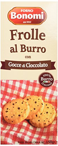 Forno Bonomi Frolle al Burro con Gocce di Cioccolato - Pacco da 10 x 150 g