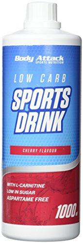 Body Attack Zero Sports Drink, Cherry / Kirsche, 1x 1000 ml / 200 Portionen, Sportgetränkekonzentrat, zucker- und fettarm, vegan, Made in Germany
