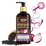 WOW Skin Science Onion Shampoo With Red Onion Seed Oil Extract, Black Seed Oil & Pro-Vitamin B5 - No Parabens, Sulphates, Silicones, Color & Peg - 300 ml