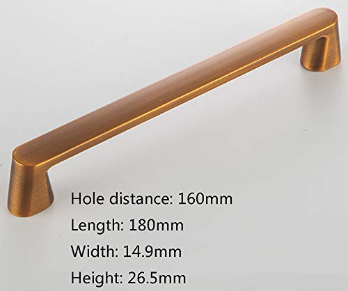 Eenvoudig modern handvat kabinet kastkastkastkastkastje deurkruk Scandinavische ladekast Hardware Meubilair handvat Holedistance:160mm