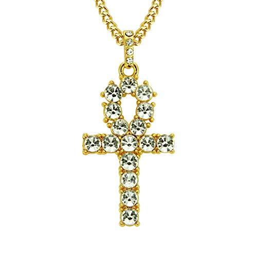 ZWJ Hip Hop Men's Cross Pendant, Egyptian Ankh Key Necklace