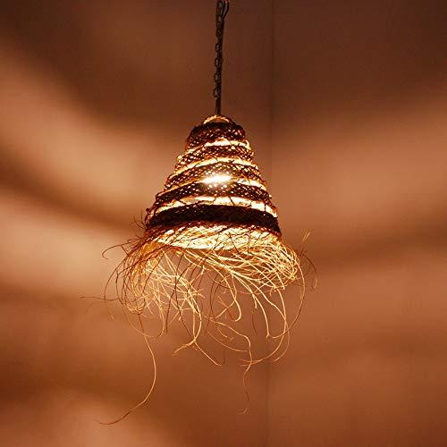 Marocco 1001201105 - Lámpara de techo de mimbre, paja y ratán