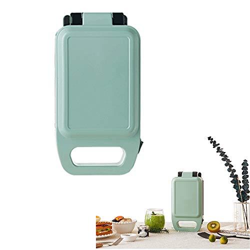 YC° 2 in 1 Elektrowaffeleisen Sandwich Maker Eisen Edelstahl Panini Press Antihaft-Beschichtung für Frühstück Toaster Snacks,Grün