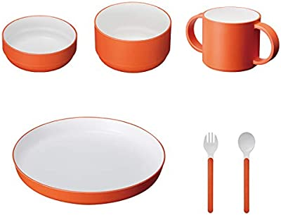 tak KIDS DISH ギフトボックス カトラリー スタンダード オレンジ/タック キッズディッシュ 食洗機対応 (オレンジ) 子供用食器セット JTN-1001-OR