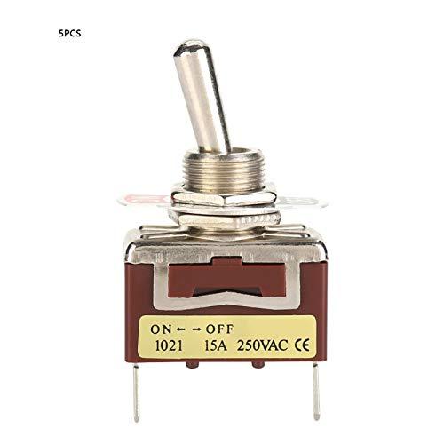 Válvula mecánica ligera, interruptor de palanca, 6,3 pines rápidos 1021 5 piezas para modelos de coches para juguetes