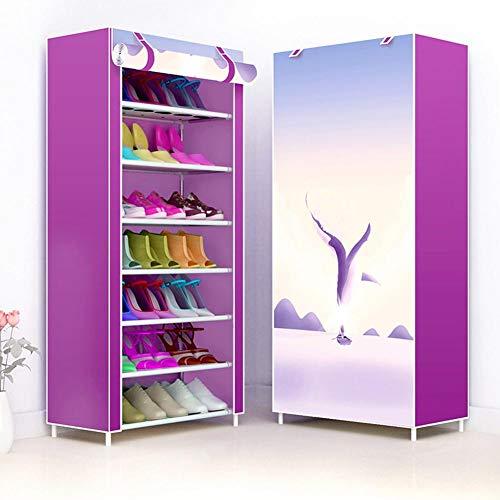 happygirr - Zapatero de Tela no Tejida, fácil de Instalar, Soporte para Zapatos, Multicapa, para el hogar