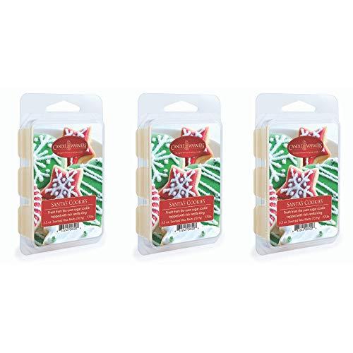 CANDLE WARMERS ETC 3-Pack 2.5 oz Wax Melt Tart Brick, Santa's Cookies