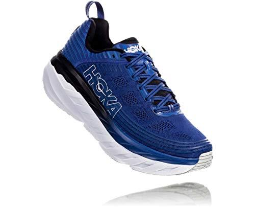 HOKA ONE ONE Mens Bondi 6 Galaxy Blue/Anthracite Running Shoe - 10
