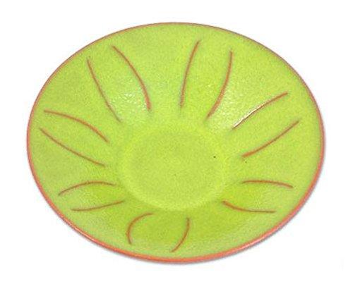 NOVICA Hand Made Ceramic Centerpiece, Yellow, Lemon'