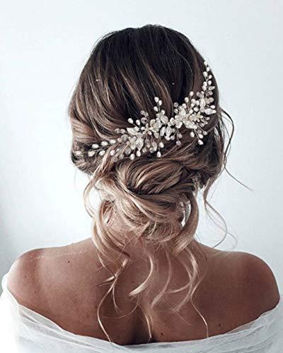 Unicra Kopfschmuck Haarschmuck Braut Hochzeit Perlen Strass Damen Mädchen