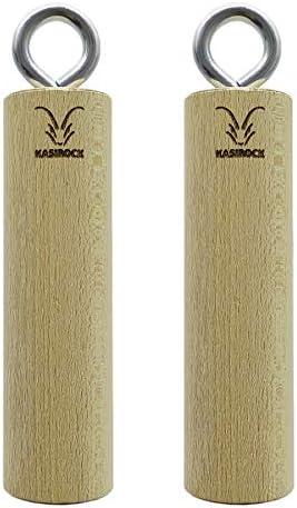 KASIROCK Juego de 2 barras redondas de madera de haya maciza para entrenamiento eficaz de escalada, fuerza y fitness.