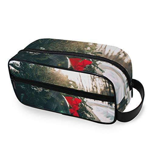 Winter Landscape(1) Cosmetic Bag for Travel Makeup Bag Toiletry & Makeup Organizer for Brushes and Accessories, Great Gift for Women and Girls(c)