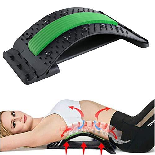 Rückenstrecker, Rückendehner mit Magnetischen Perlen, 3 Stufen Einstellbar Rückenmassage für Lendenwirbelsäule Rückenschmerzen Linderung und Entspannung