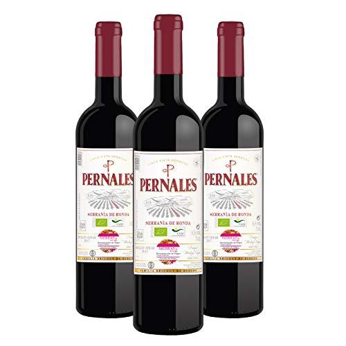 Pernales Ronda Ecológico Merlot-Syrah - Pack 3 botellas de 75 cl - Vino tinto ecológico D.O.'Sierras de Málaga'
