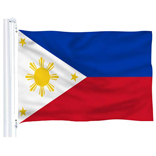 DFLIVE Philipines Flag 3x5 Ft Thicker Polyester The Filipino Philippine National Banner with Brass Grommets