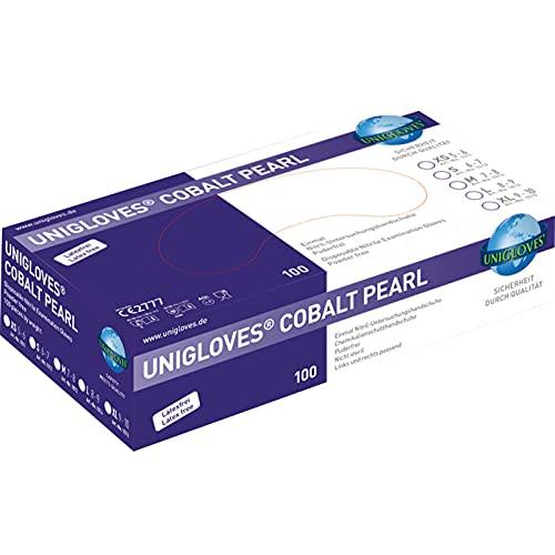 Einmalhandschuhe PEARL ColorLine von Unigloves, Nitril, verschiedene Farben Cobalt M medium
