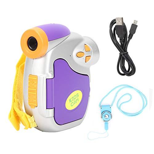 KUIDAMOS Cámara De Video para Niños, Tarjeta De Memoria De 32GB Micrófono Incorporado Lente Principal USB 2.0 Cámara para Niños Zoom Digital 4X para Niños para Regalo De Cumpleaños