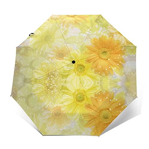 fepeng Skeleton Of Justice Paraguas automático de tres pliegues unisex impreso paraguas manual paraguas portátil, Crisantemo, Taille unique